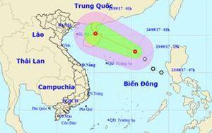Áp thấp nhiệt đới có gió giật cấp 9 trên Biển Đông