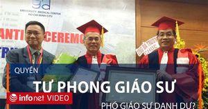 Trường Đại học ở Việt Nam có quyền tự phong Giáo sư, Phó Giáo sư danh dự?