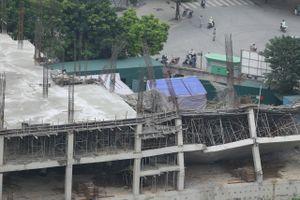 Trường mầm non đang xây bị sập ở Hà Nội
