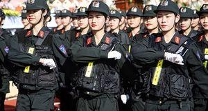 Ngắm nữ sinh Học viện CSND diễu binh trong lễ khai giảng