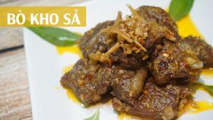 Bò kho sả ớt món ngon cho bữa cơm gia đình