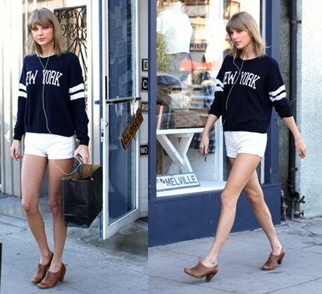 "Taylor Swift dien quan sooc ngan khoe doi chan ""850 ty dong"" - Anh 1"