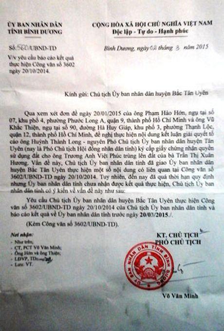 Chu tich UBND tinh Binh Duong chi dao nhanh chong khac phuc hau qua - Anh 1