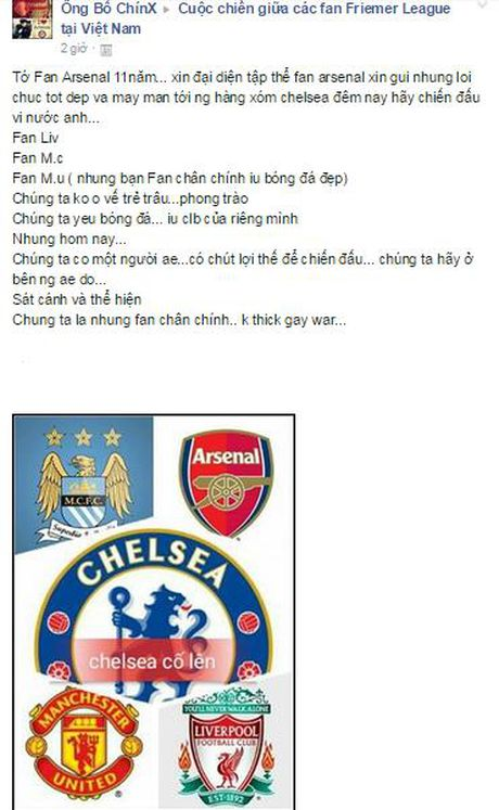 Fan Arsenal chuc Chelsea thang loi tai Champions League - Anh 2