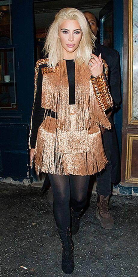 Style kho doan truoc cua Kim Kardashian tai Paris Fashion Week - Anh 1