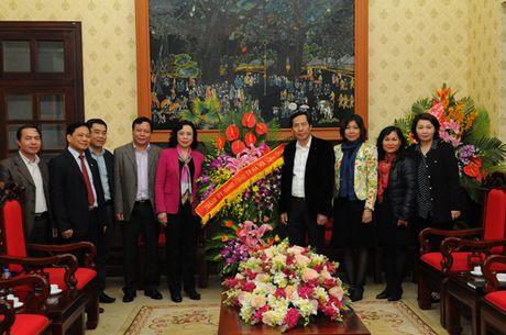Pho Bi thu Thuong truc Thanh uy chuc mung Bao Nhan Dan - Anh 1