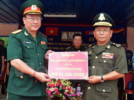 Viet Nam giup do Quan doi Campuchia xay dung ha tang dao tao - Anh 1