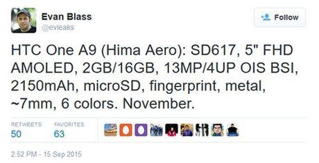 HTC One A9 tam trung sap ra mat - Anh 2