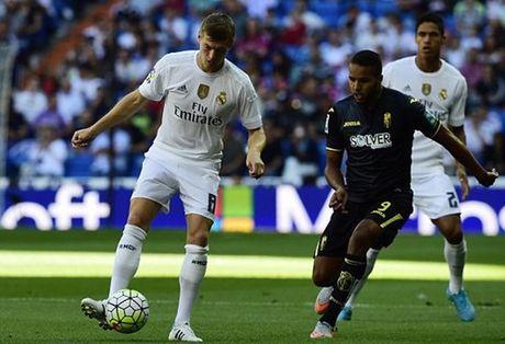 TRUC TIEP Real Madrid - Granada: Chu nha phung phi co hoi - Anh 3