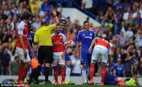 Truc tiep Chelsea vs Arsenal: Arsenal bi duoi 2 nguoi, thua am uc derby London - Anh 1