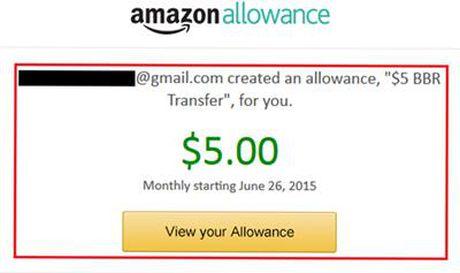 Amazon buoc vao thi truong qua tang dien tu voi Amazon Allowance - Anh 1