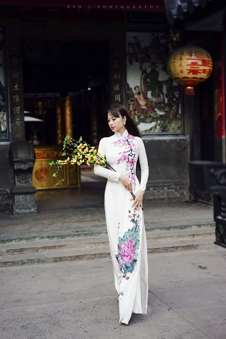Hoa hau Dien anh 9X thuot tha ao dai don xuan - Anh 3
