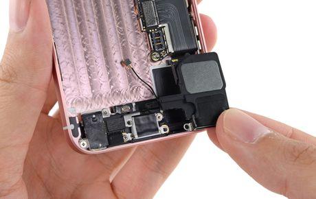 Ben trong iPhone SE: man hinh, loa, bo rung doi duoc voi 5s, co ron chong nuoc, 6/10 diem iFixit - Anh 10