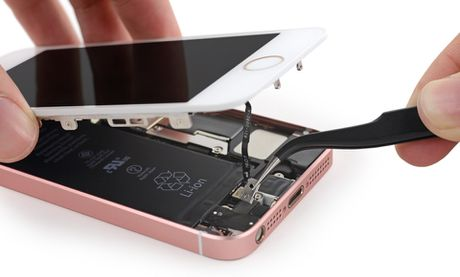Ben trong iPhone SE: man hinh, loa, bo rung doi duoc voi 5s, co ron chong nuoc, 6/10 diem iFixit - Anh 4