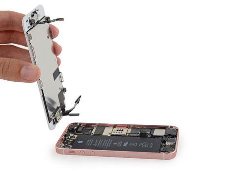 Ben trong iPhone SE: man hinh, loa, bo rung doi duoc voi 5s, co ron chong nuoc, 6/10 diem iFixit - Anh 5