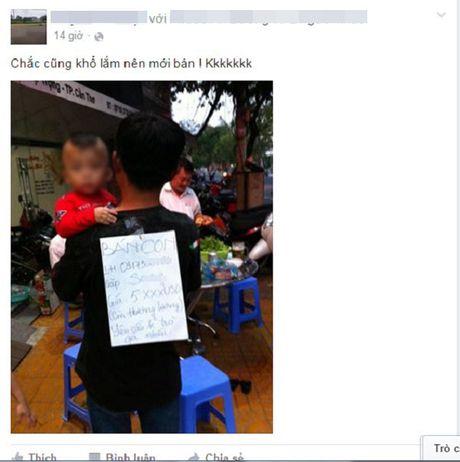 Hinh anh rao ban con tren Facebook khien dan mang phan no - Anh 1