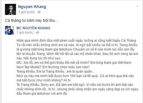 Nguyen Khang xin loi Trang Khieu sau su co khong biet co la ai - Anh 4