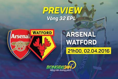Arsenal vs Watford (21h ngay 2/4): Them mot lan dau? - Anh 3