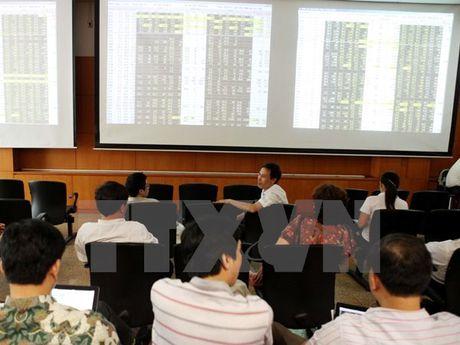 Chung khoan tim lai sac xanh, VN-Index ap sat nguong 580 diem - Anh 1