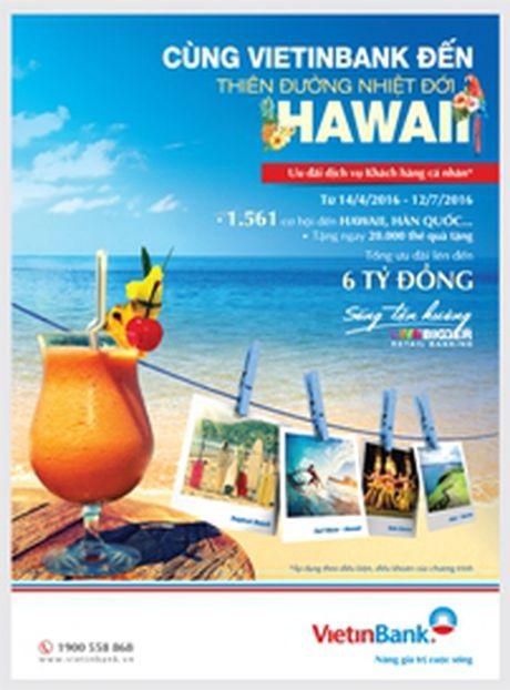 Co hoi du lich Hawaii mien phi cho khach hang VietinBank - Anh 1
