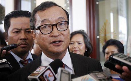 Sam Rainsy tiep tuc chong pha bien gioi Viet Nam - Campuchia - Anh 1