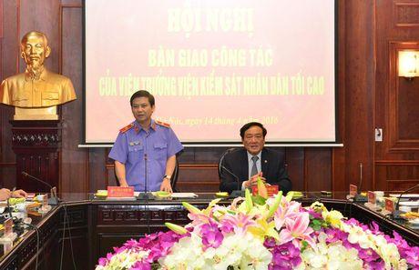 Hoi nghi ban giao cong tac cua Vien truong VKSNDTC - Anh 2