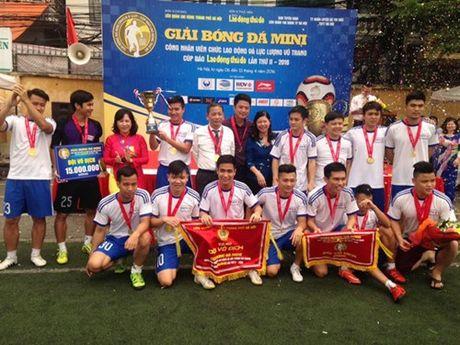 Doi BIDV Quang Trung doat Cup Bao Lao dong Thu do - Anh 1