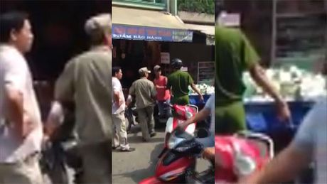 Cong an phuong quat nga nguoi ban hang rong? - Anh 1