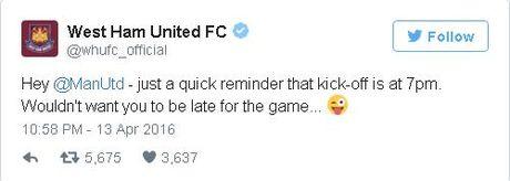 West Ham 0-0 Man Utd (H1): Fellaini, Lingard bo lo co hoi - Anh 10