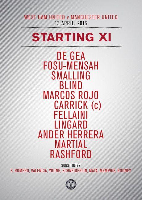 West Ham 0-0 Man Utd (H1): Fellaini, Lingard bo lo co hoi - Anh 9