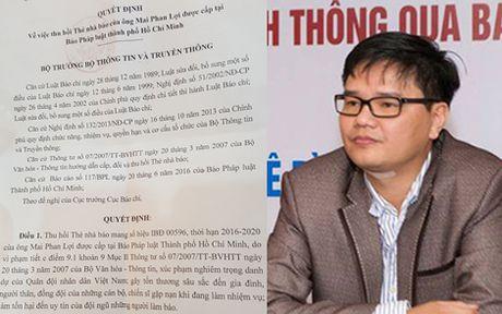 Thu hoi the nha bao cua ong Mai Phan Loi - Anh 1