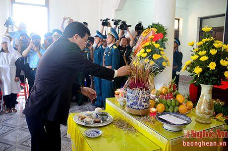 Lanh dao Dang, Nha nuoc, tinh Nghe An vieng Dai ta phi cong Tran Quang Khai - Anh 3