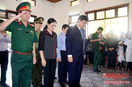 Lanh dao Dang, Nha nuoc, tinh Nghe An vieng Dai ta phi cong Tran Quang Khai - Anh 6