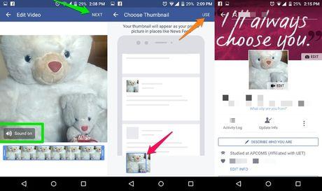 Huong dan cach dat anh dai dien Facebook bang video - Anh 3