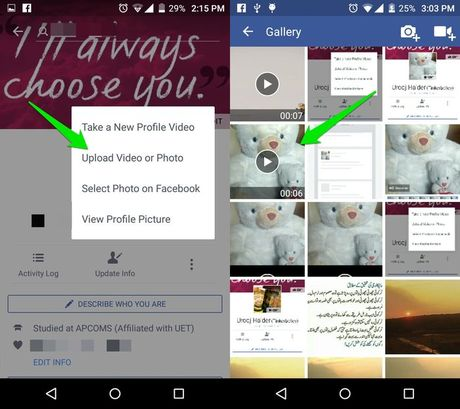 Huong dan cach dat anh dai dien Facebook bang video - Anh 4