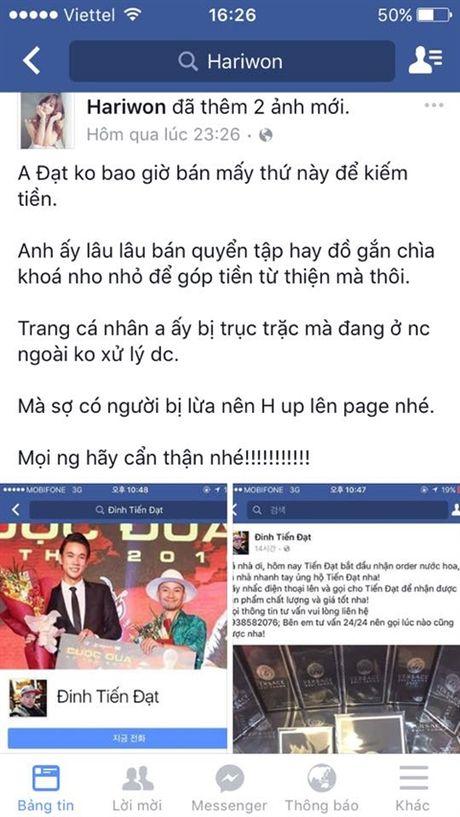 Hari Won cong khai benh Tien Dat khong lo Tran Thanh ghen tuong - Anh 2