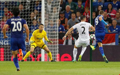 Leicester - Swansea City: Nguoi hung Jamie Vardy len tieng - Anh 2