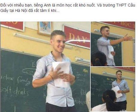 Thay giao Tieng Anh dien trai bi nu sinh Ha Noi chup len - Anh 1