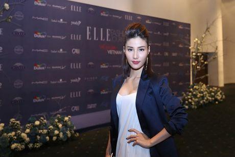 Dan Hoa hau, A hau 'do bo' tham do dem cuoi Elle Fashion - Anh 16