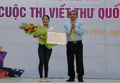 Trao giai thuong cuoc thi Viet thu quoc te UPU tai Can Tho - Anh 1