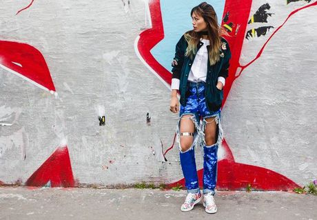 Trong thiet ke Do Manh Cuong, fashionista ThyThu lot top 10 street style tai Paris Fashion week - Anh 17