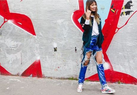 Trong thiet ke Do Manh Cuong, fashionista ThyThu lot top 10 street style tai Paris Fashion week - Anh 18