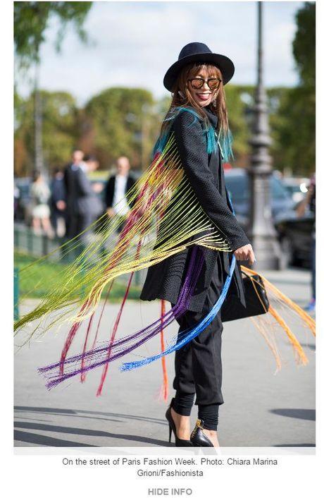 Trong thiet ke Do Manh Cuong, fashionista ThyThu lot top 10 street style tai Paris Fashion week - Anh 1