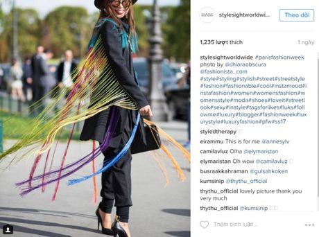 Trong thiet ke Do Manh Cuong, fashionista ThyThu lot top 10 street style tai Paris Fashion week - Anh 2