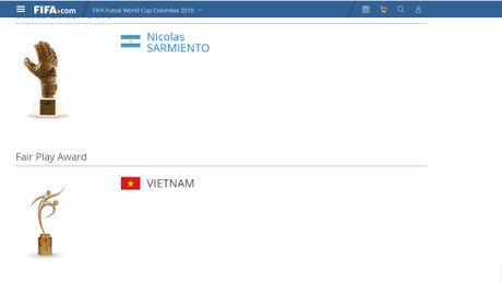 Tuyen Viet Nam gianh giai Fair Play tai futsal World Cup - Anh 1