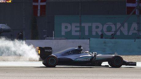 Xe boc chay khien Hamilton bo cuoc tai Malaysian GP - Anh 2