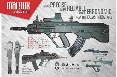 Ukraine tham vong thay the AK-74M bang sung truong Malyuk - Anh 6