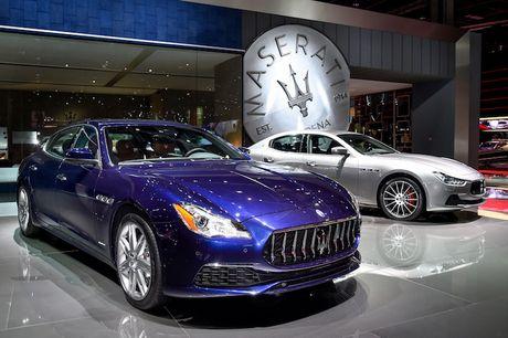 Xe sang Maserati Quattroporte 2017 chinh thuc 'lo dien' - Anh 1
