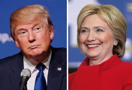 Hillary 'ha guc' Trump ngoan muc trong cuoc song dau dau tien - Anh 1