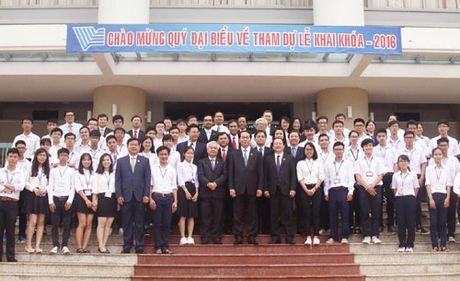 Chu tich nuoc du le khai khoa tai DH Quoc gia TP Ho Chi Minh - Anh 1